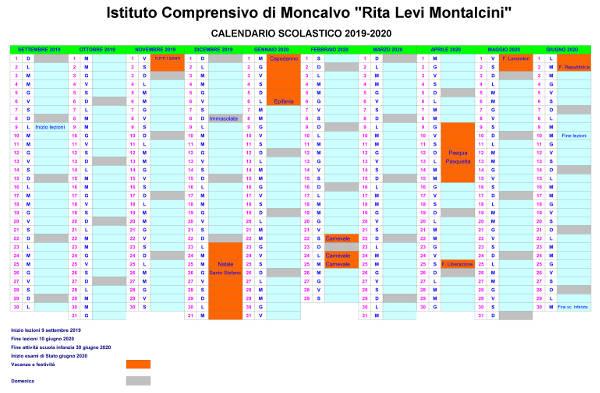 Calendario scolastico 2019/2020   Istituto Comprensivo di Moncalvo